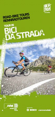 Road cycling Val di Fassa Map of road bike tours bicycle trips