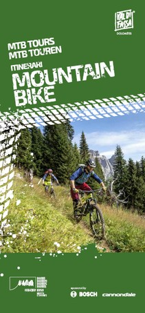 Dolomiti Lagorai Bike map of mountain bike tours Val di Fassa bike