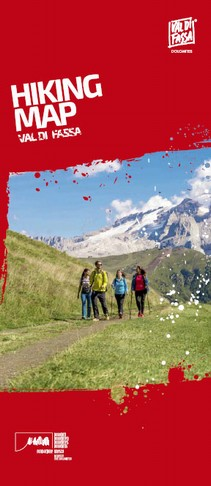 Hikiing map Val di Fassa Suggested itineraries with descriptions