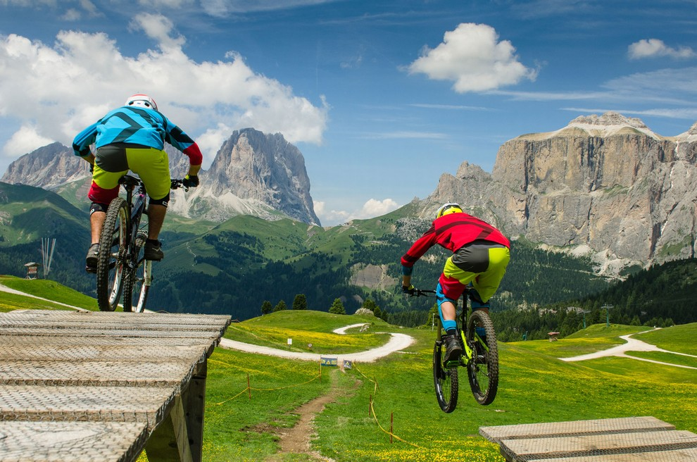 Downhill Val Di Fassa Mountainbike Gravity Strecken Belvedere