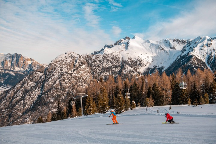 Piavac ski run, from Le Cune to Valbona