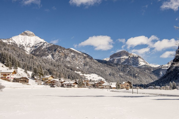 Cross country ski trails Campitello di Fassa