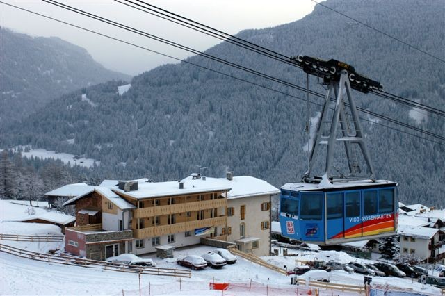 Our Hotel is located next to the cable car way that brings you to Ciampedie.