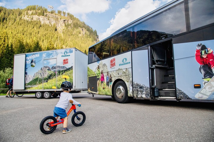 "Ride along Val di Fassa with ""Bike Express"""