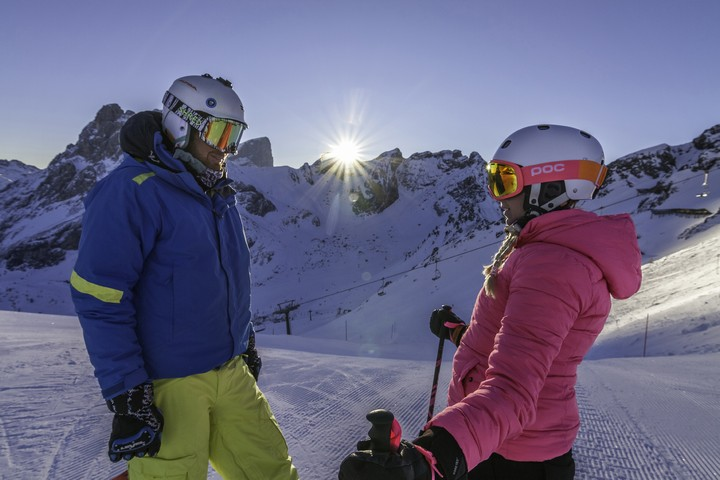 #trentinoskisunrise: ringside on the slope