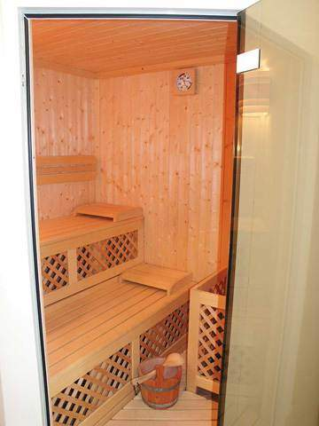 Finnish saunas. Wellness area of the Hotel Sonia.