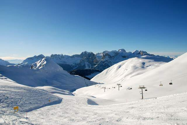 The Ciampac ski area is linked directly to the Buffaure ski area by two chairlifts