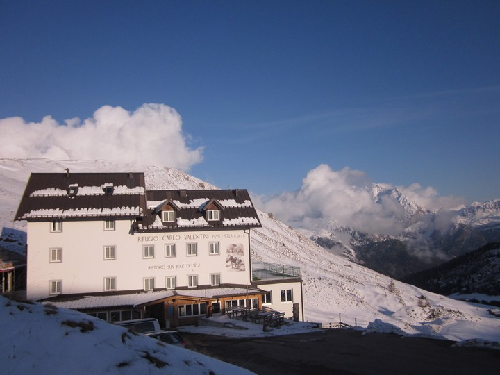In the background the Marmolada